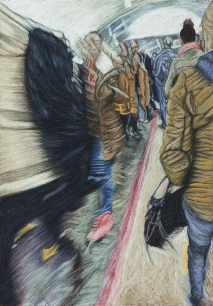 Châtelet - Les Halles #13 | Pastel 35x50 cm - 2017