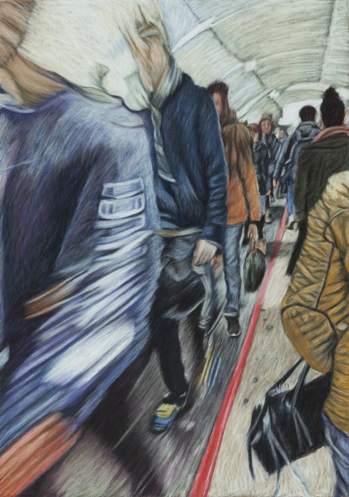 Châtelet - Les Halles #10 | Pastel 35x50 cm - 2017