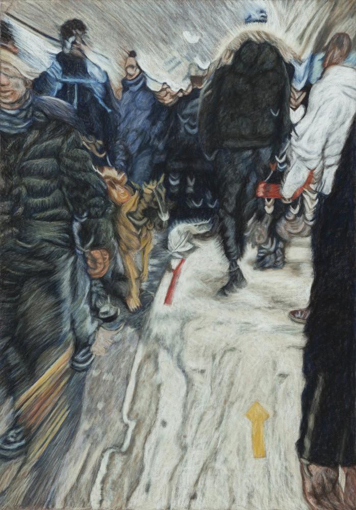Châtelet - Les Halles #1 | Pastel 35x50 cm - 2017