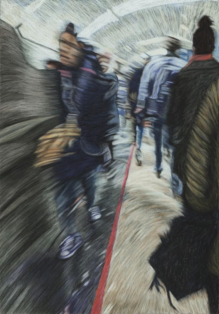Châtelet - Les Halles #4 | Pastel 35x50 cm - 2017