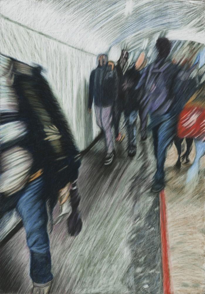 Châtelet - Les Halles #5 | Pastel 35x50 cm - 2017