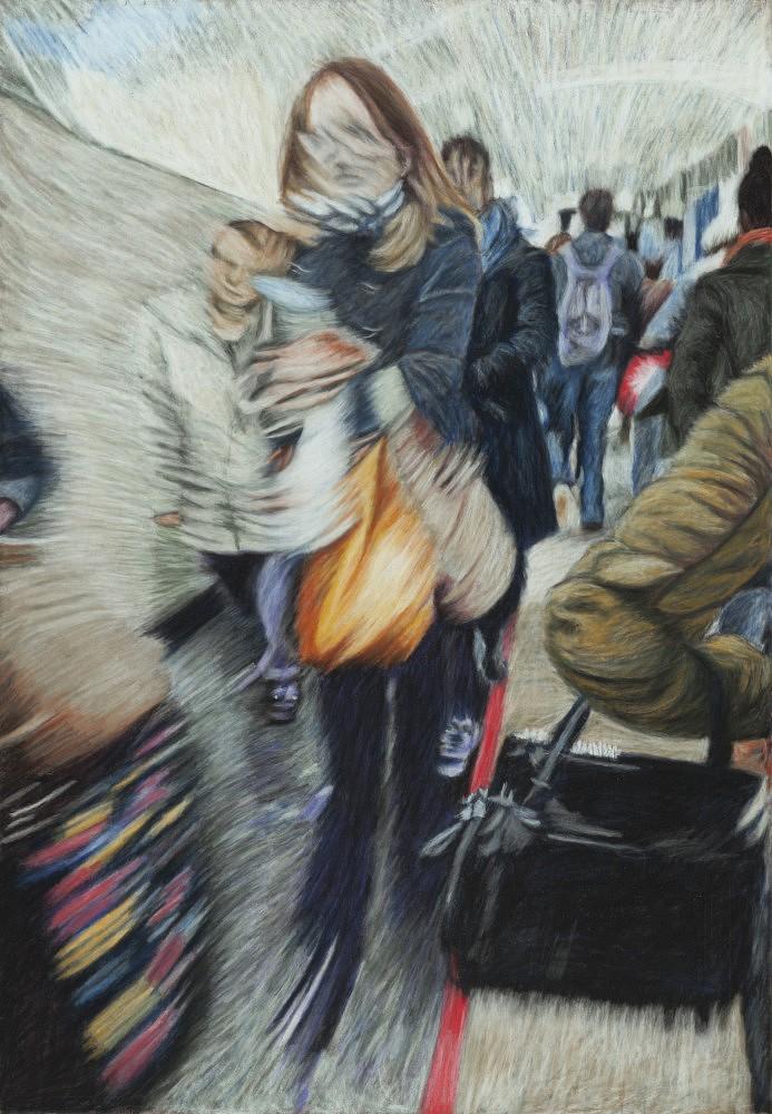 Châtelet - Les Halles #8 | Pastel 35x50 cm - 2017