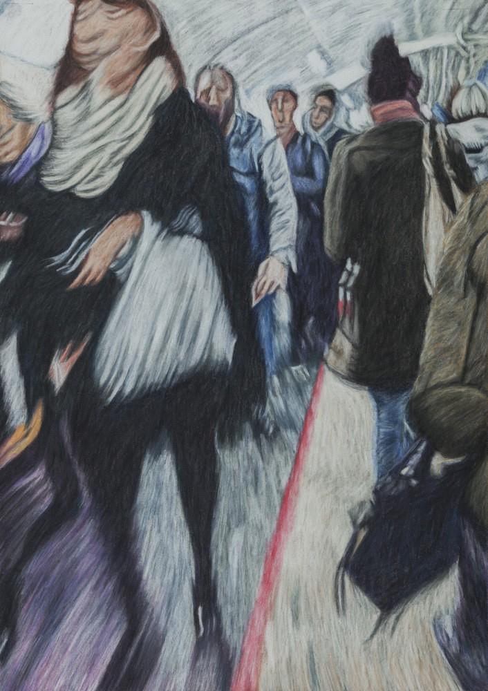 Châtelet - Les Halles #18 | Pastel 35x50 cm - 2017