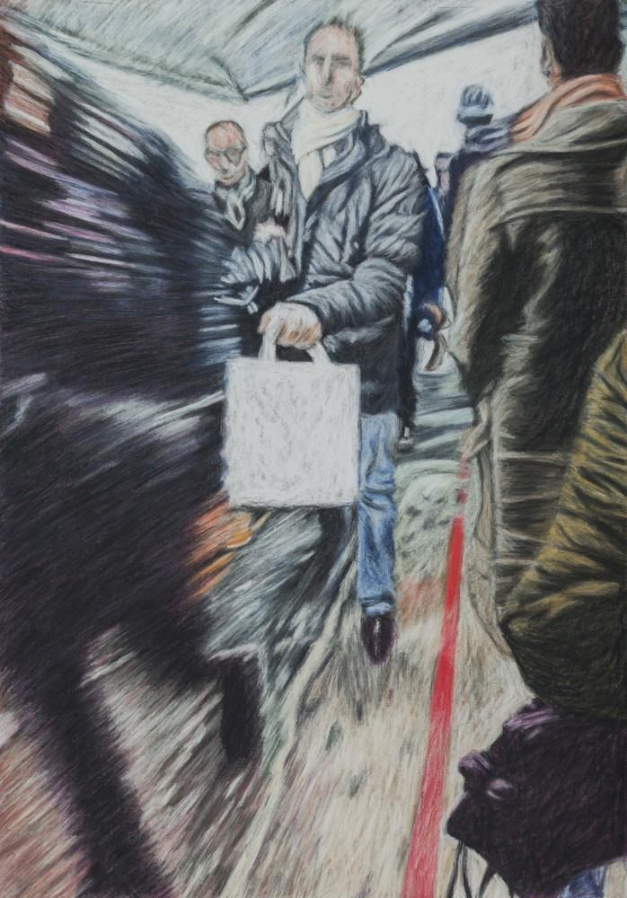 Châtelet - Les Halles #24 | Pastel 35x50 cm - 2017