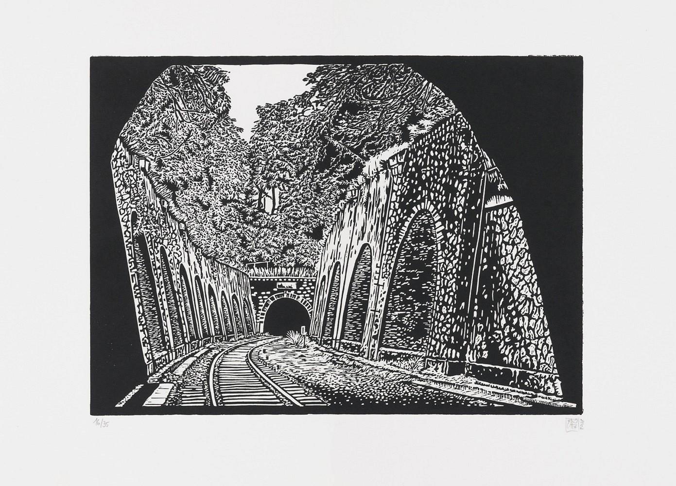 La petite ceinture #4 | Linogravure 30x40 cm - 2008