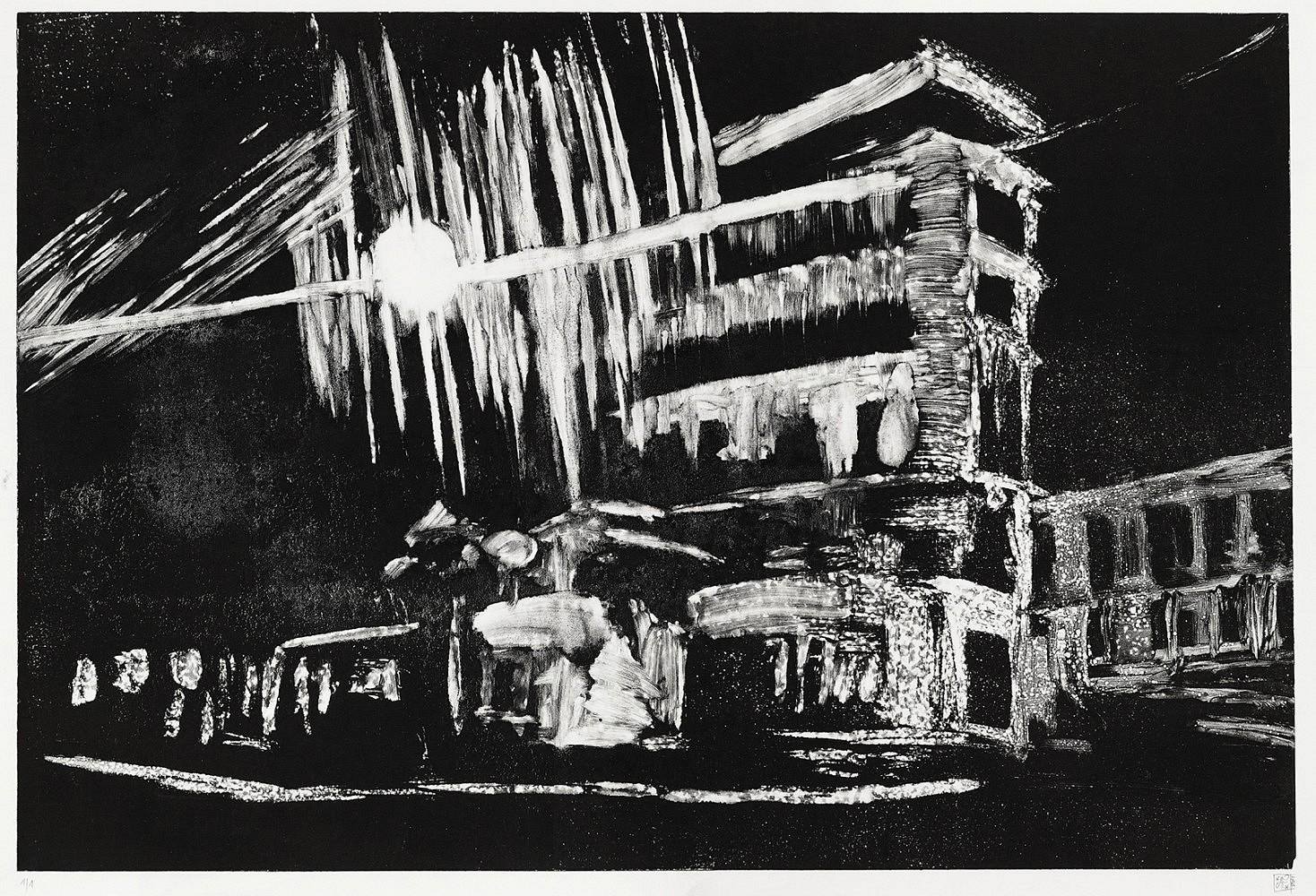 Nocturnes (taxi #4) | Monotype 50x70 cm - 2011