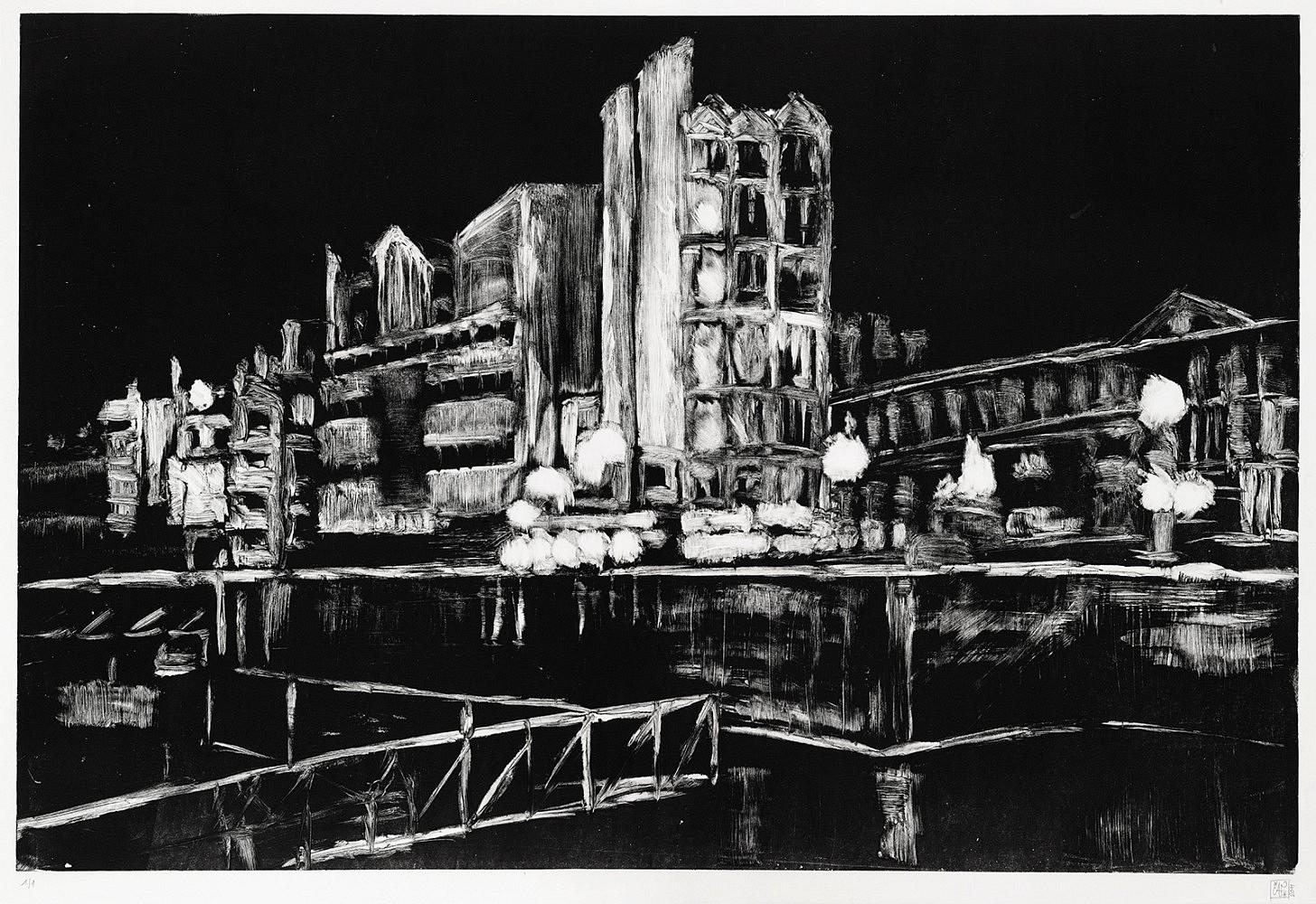 Nocturnes (Rue de Rome #1) | Monotype 50x70 cm - 2011