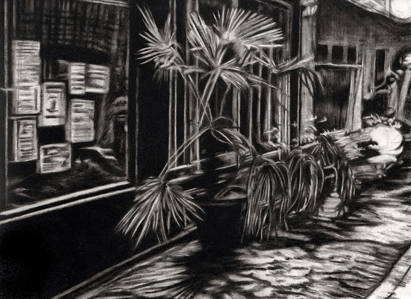 Nocturnes (passage) | Crayon marqueur 25x35 cm - 2011