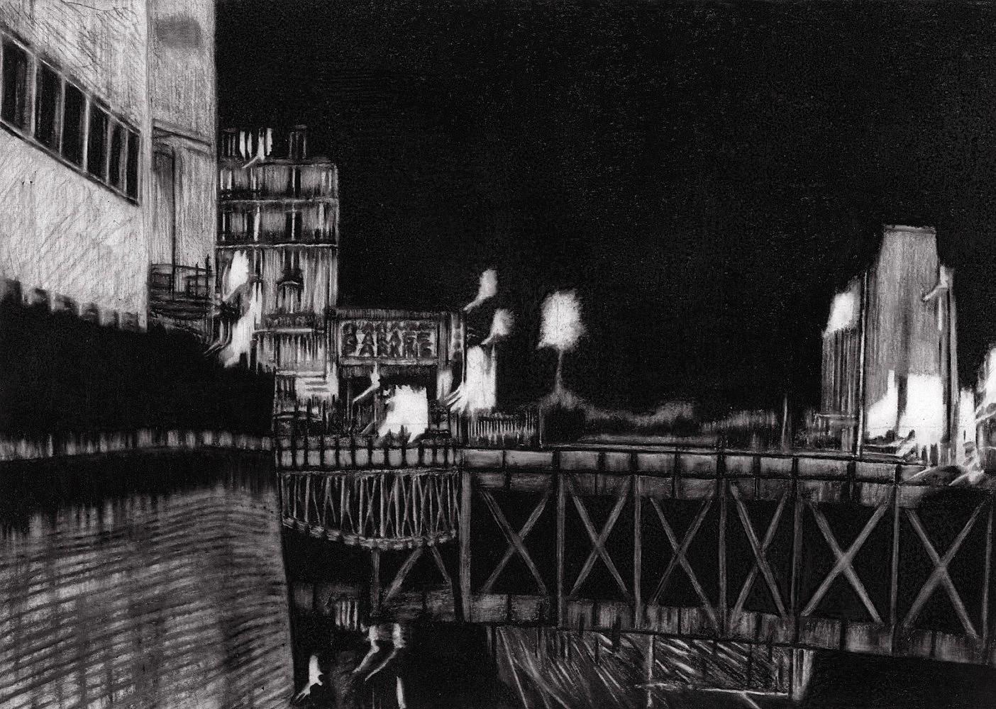 Nocturnes (Rue de Rome #1) | Crayon marqueur 25x35 cm - 2011