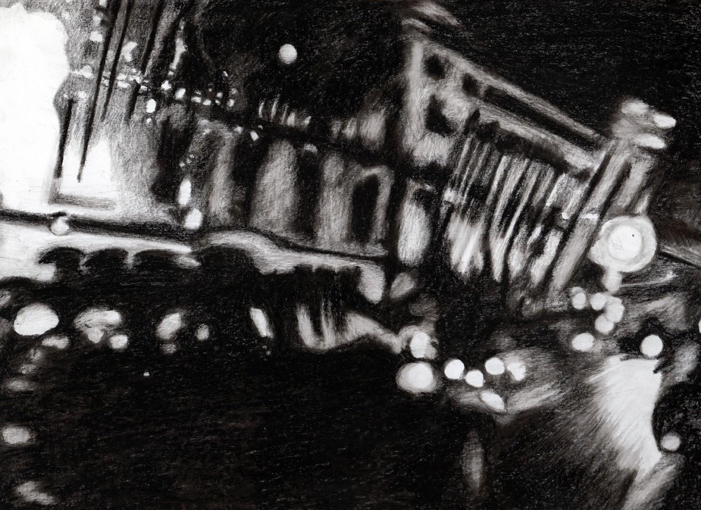 Nocturnes (taxi #1) | Crayon marqueur 25x35 cm - 2011