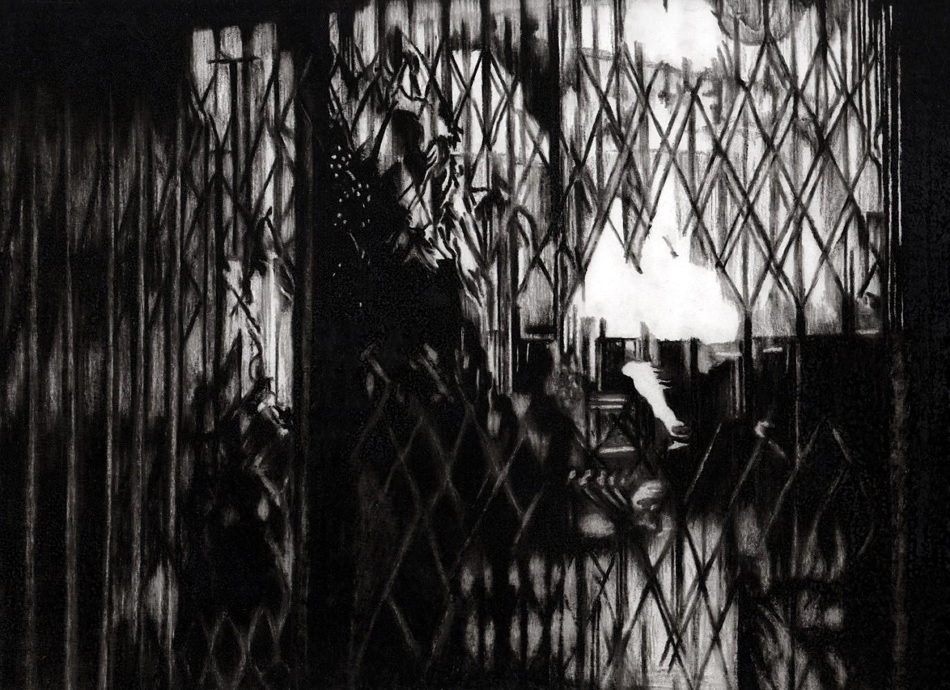 Nocturnes (vitrine) | Crayon marqueur 25x35 cm - 2011