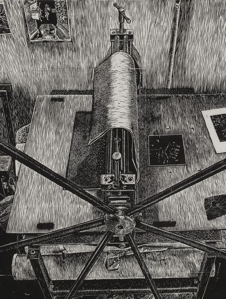| Détail (Presse gravure), 80x60 cm