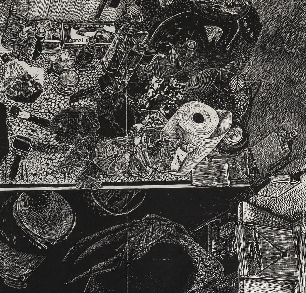 | Détail (table d'encrage) 60x62 cm